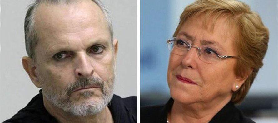 Miguel Bosé pidió a Michelle Bachelet atender casos de tortura en Venezuela