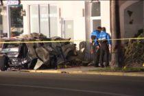 Un muerto y un herido dejó choque de auto contra una pared en Miami Beach