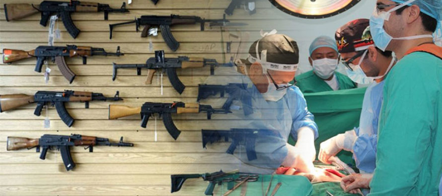 Polémica entre médicos y defensores de las armas por índices de violencia