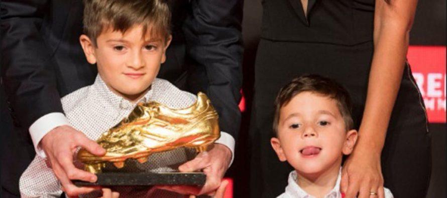El show del hijo de Messi durante la gala del Botín de Oro (video)