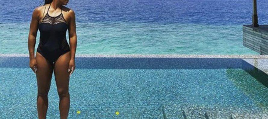 Serena Williams disfruta de unas lujosas vacaciones junto con su familia en las Maldivas (fotos)
