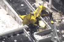 Murió un piloto al estrellarse avioneta contra zona residencial en Fort Lauderdale (video)