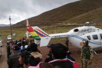 Helicóptero que trasladaba a Evo Morales aterrizó de emergencia tras sufrir un accidente