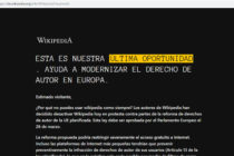 Wikipedia se apagó en Europa por 24 horas en protesta ante reforma del copyright