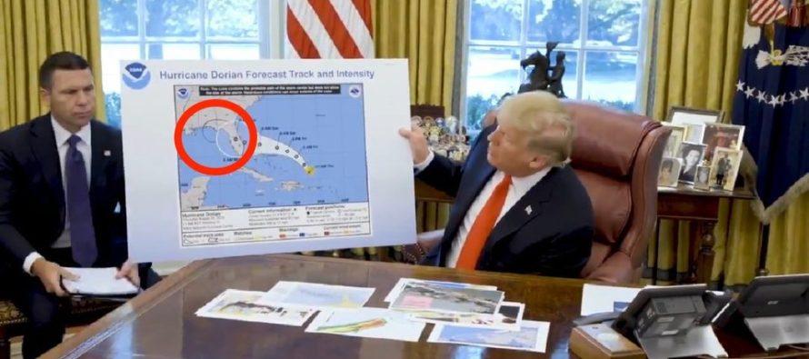Donald Trump publicó pronóstico del tiempo alterado