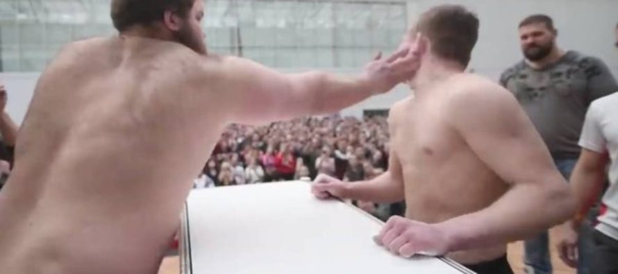¡Juegos de manos! Primer campeonato mundial de cachetadas en Rusia