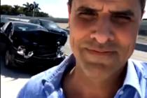 Marco Antonio Regil sufrió aparatoso accidente en Miami