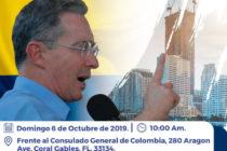 Realizarán marcha en favor del expresidente Alvaro Uribe en Miami