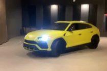 Anuel recorrió 40 pisos del Porsche Design Tower en Miami con su Lamborghini