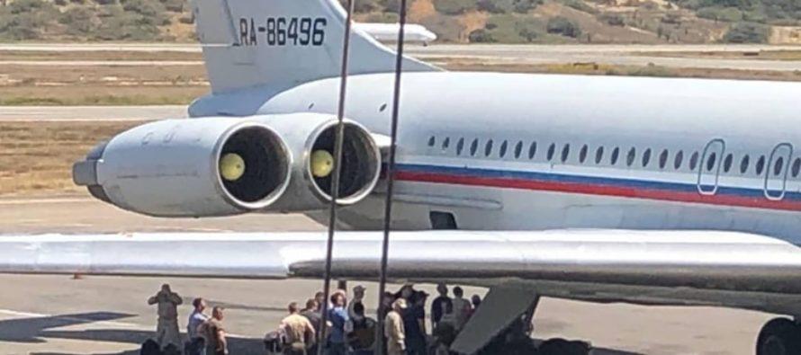 ¡Confirmado! Avión de la fuerza aérea rusa aterrizó en aeropuerto venezolano
