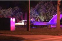 Avioneta aterrizó de emergencia frente a sede de Policía de Miami Dade