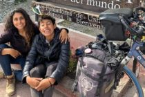 Madre e hijo cumplen reto: viajan desde México hasta el fin del mundo en bicicleta