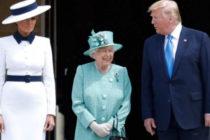 Donlald Trump realizó visita a la reina Isabel II