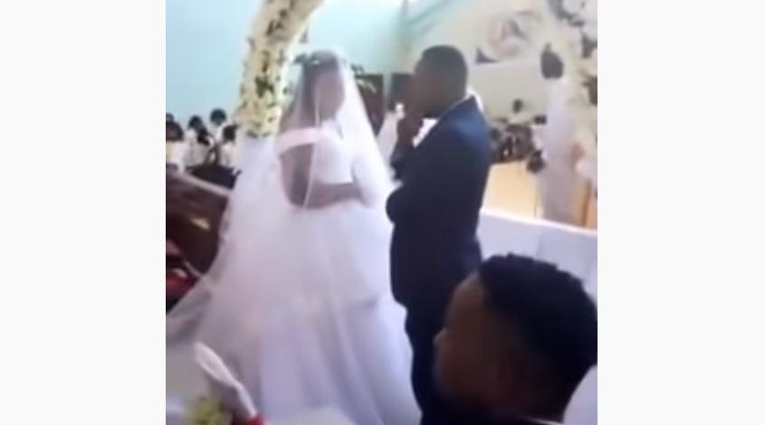 ¡Padre, detenga la boda!: mujer detiene matrimonio... de su esposo
