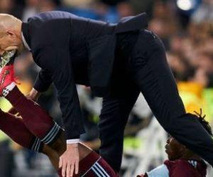 La terrible patada en la cara que recibió Zinedine Zidane en un juego del Real Madrid +Vídeo