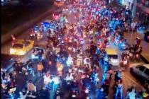 Caravana de payasos motociclistas generó caos en Bogotá (Video)
