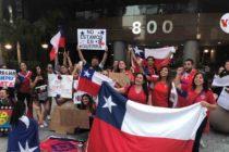 Chilenos piden cese de violencia en su país desde Miami