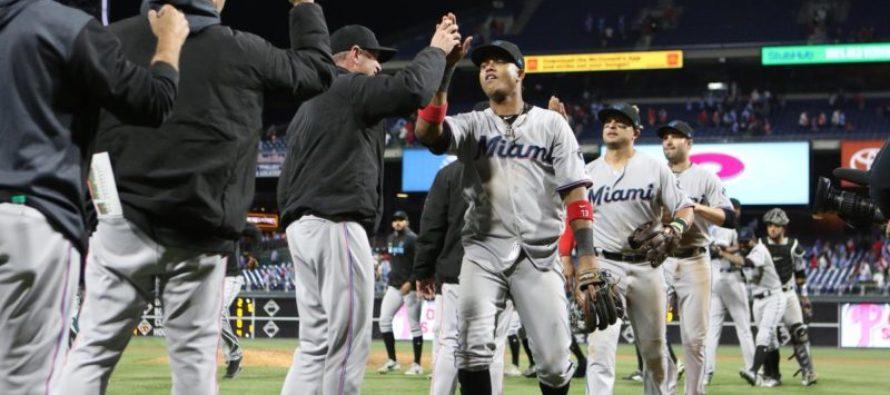 Miami ganó su octavo partido con un jonrón de Starling Castro en el inning 10