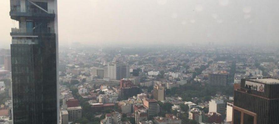 Muestran contaminación de Ciudad de México desde el espacio (foto)