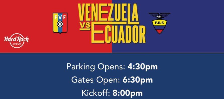 Estos son los horarios para ver el juego entre Ecuador y Venezuela este sábado en Miami