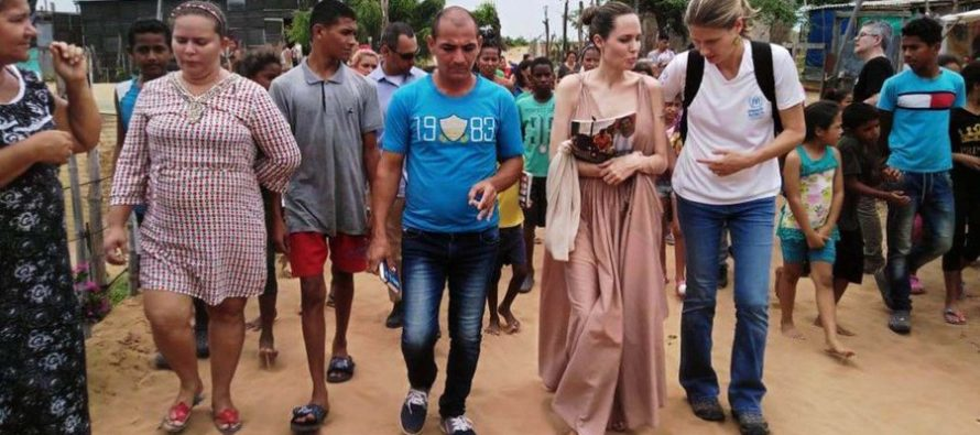 Angelina Jolie visitó localidad colombiana para conocer la situación migratoria de los venezolanos