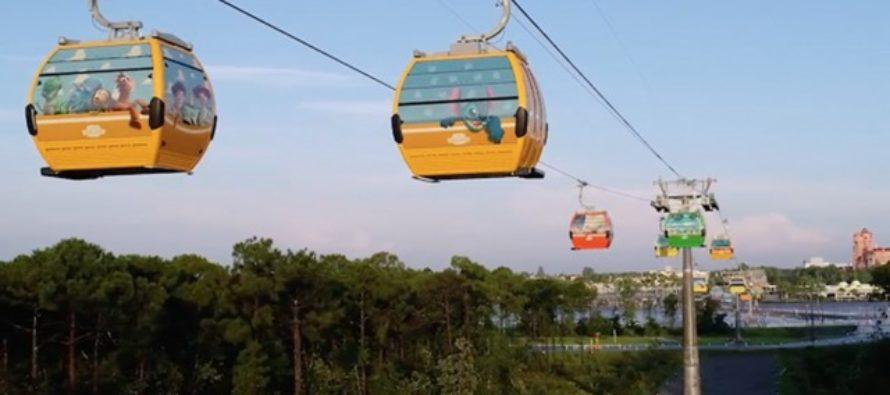 El Skyliner de Walt Disney inició operaciones este lunes después de estar cerrado
