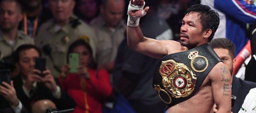 Manny Pacquiao venció a Keith Thurman y se coronó supercampeón de Peso Wélter