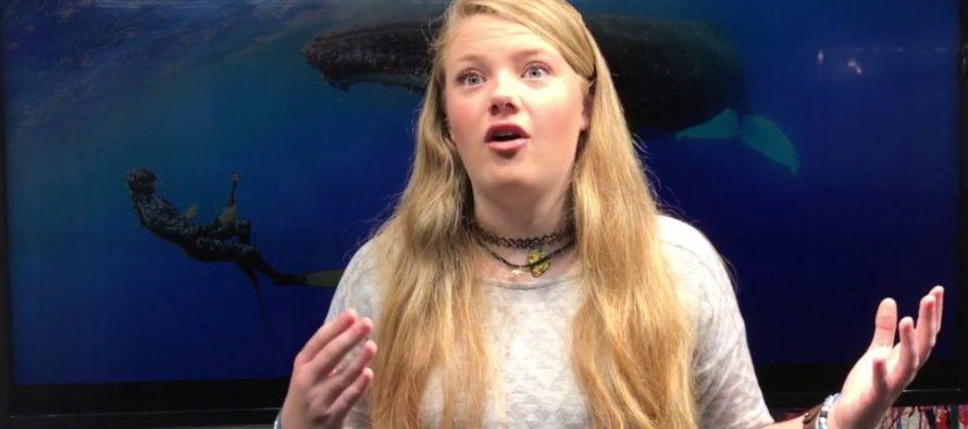Delaney Reynolds, la «Greta» de Florida, no cree a los que no creen en el cambio climático