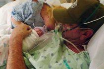 Adelantó el parto para que su marido con cáncer conozca a su bebé antes de morir