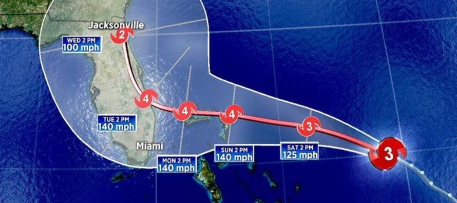 Dorian se debilita a Cat 2: cancelan vigilancia de huracán para Palm Beach
