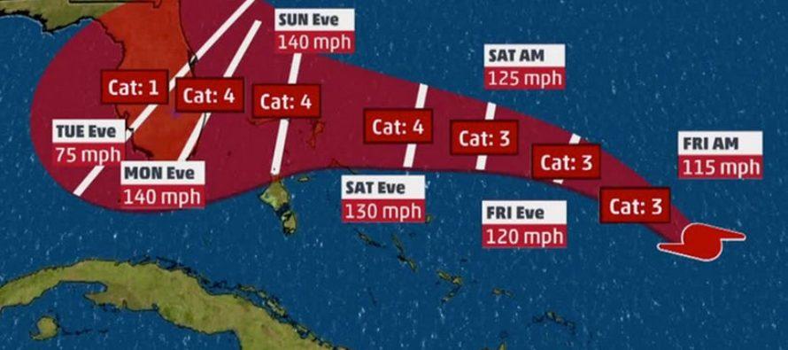 Florida en vilo: Dorian ya es un huracán «extremadamente peligroso» de Categoría 2