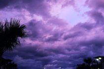 Reportaron que el cielo en Jacksonville se tornó púrpura tras el paso de Dorian cerca de Florida