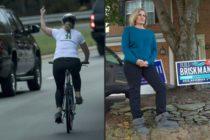 Mujer que hizo seña obscena con el dedo a la caravana de Donald Trump ganó las elecciones en Virginia