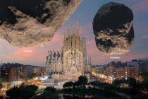 ESA muestra los asteroides Didymos sobre los monumentos más emblemáticos de la Tierra
