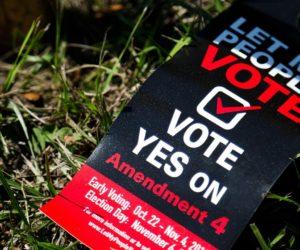 Estudio Enmienda 4: Ley promulgada por DeSantis limita voto de los delincuentes de Florida