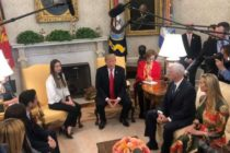 Trump recibió a Fabiana Rosales en la Casa Blanca (VIDEO)