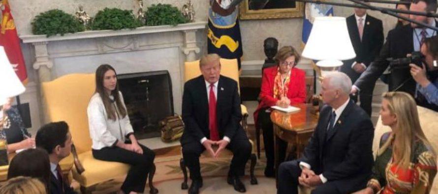 Trump recibió a Fabiana Rosales en la Casa Blanca (VIDEO)