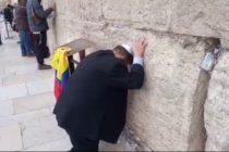 Diputado venezolano pidió por Venezuela en el Muro de los Lamentos
