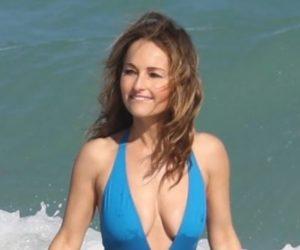 Giada De Laurentiis disfrutó de día de playa en Miami Beach