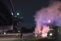 Auto se prendió en llamas tras accidente dejando dos muertos en Golden Glades