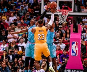 Lakers de LeBron James acabaron con el invicto del Heat en Miami