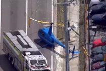 ¡Increíble! Murió hombre en Tampa cuando un helicóptero chocó contra su camioneta