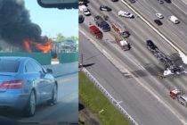 Camión en llamas causó retrasos en la I-95 cerca de Oakland Park