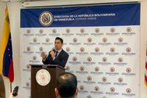 Embajador Vecchio: junto a administración del Presidente Trump trabajamos para detener sufrimiento de todos los venezolanos