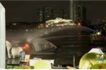 Se incendió el yate de Marc Anthony en Miami (Fotos+videos)