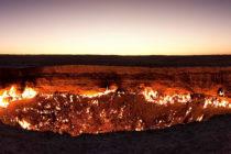 ¡Imágenes inéditas! Dron captó 'las puertas del infierno' en Turkmenistán