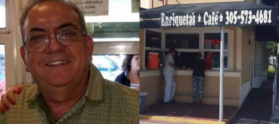 Murió propietario de la conocida cafetería cubana Enriqueta's en Miami