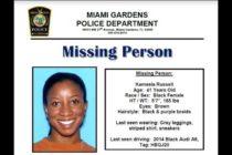 Confirman que cuerpo encontrado en canal de Miami Gardens es de Kameela Russell