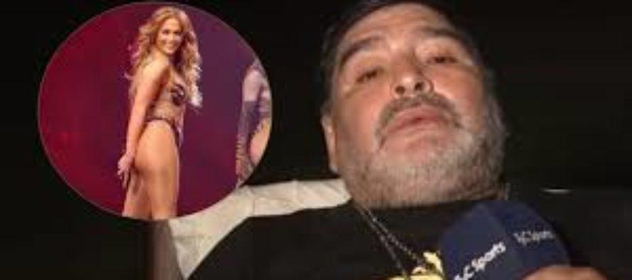 Maradona reveló encuentro íntimo con Jennifer López en Venezuela (Video)