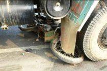 Murió motociclista tras se arrollado por un camión en Doral